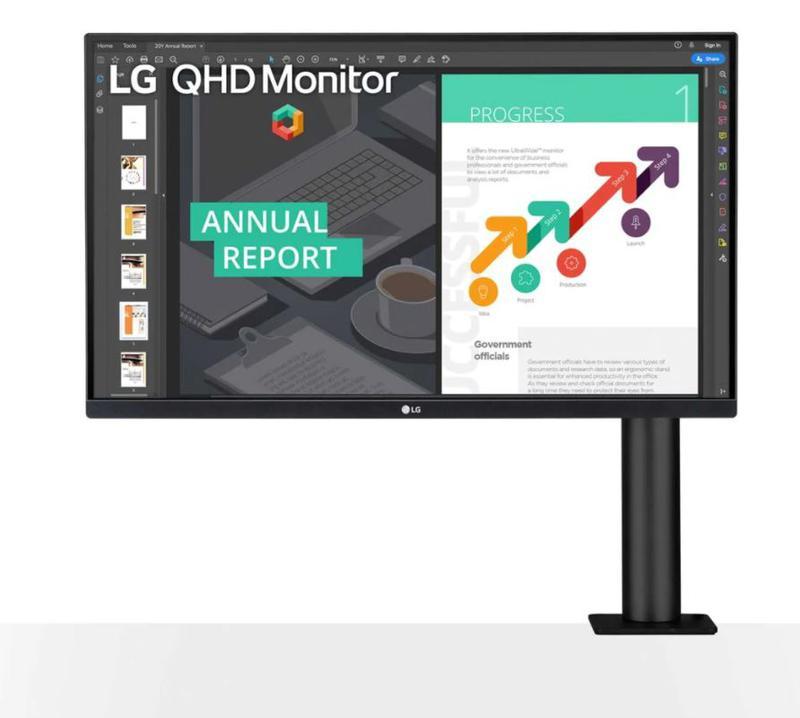 Monitors LG 27QN880 27IN IPS QHD Monitor HDMI