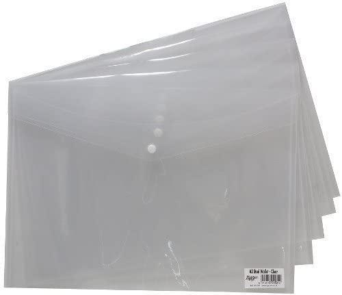 ValueX Popper Wallet Polypropylene A3 Clear (Pack 5)