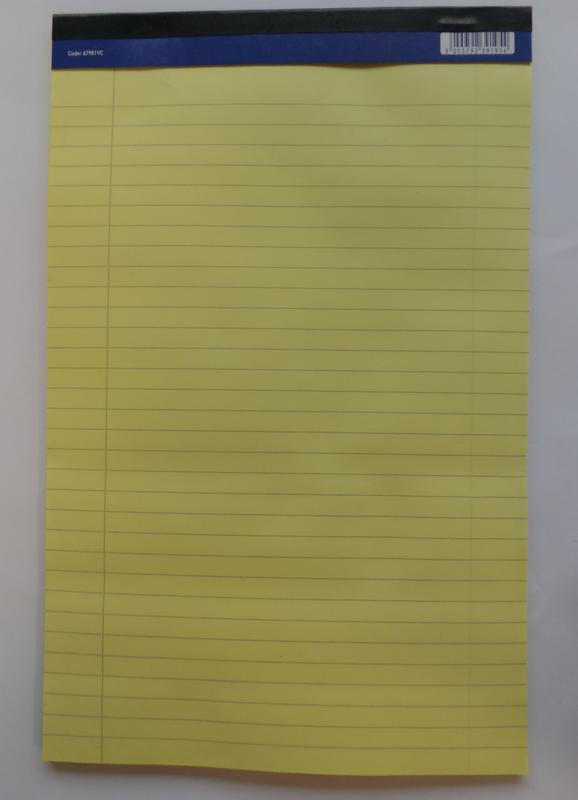 ValueX A4 Executive Memo Pad Ruled 100 Page Yellow (Pack 10)
