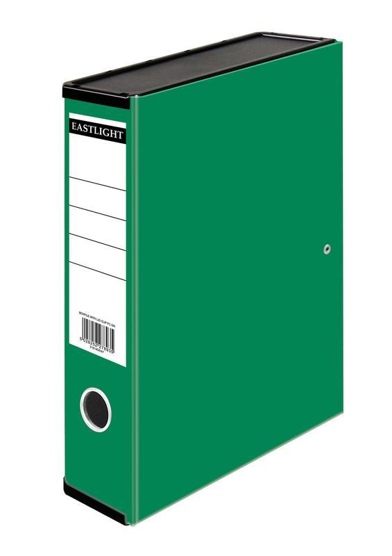 Box Files ValueX Box File Paper on Board Foolscap 50mm Spine Width Clip Closure Green