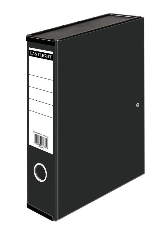 Box Files ValueX Box File Paper on Board Foolscap 50mm Spine Width Clip Closure Black