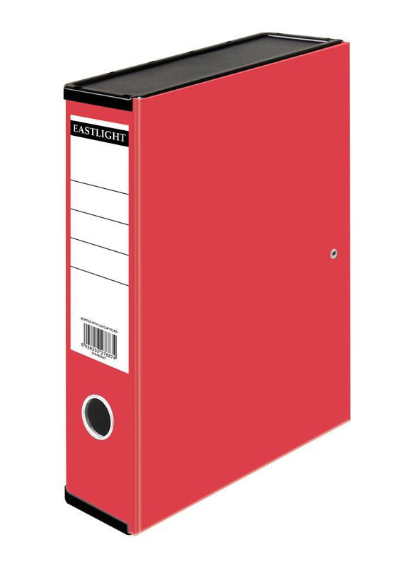 Box Files ValueX Box File Paper on Board Foolscap 50mm Spine Width Clip Closure Red