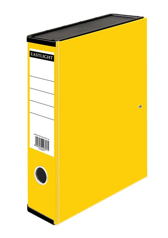 Box Files ValueX Box File Paper on Board Foolscap 50mm Spine Width Clip Closure Yellow