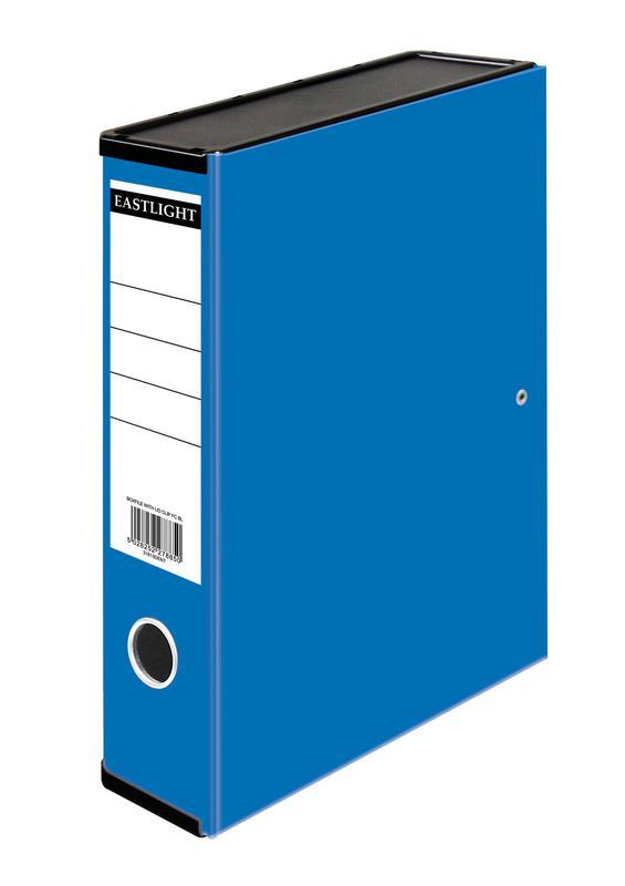 Box Files ValueX Box File Paper on Board Foolscap 50mm Spine Width Clip Closure Blue