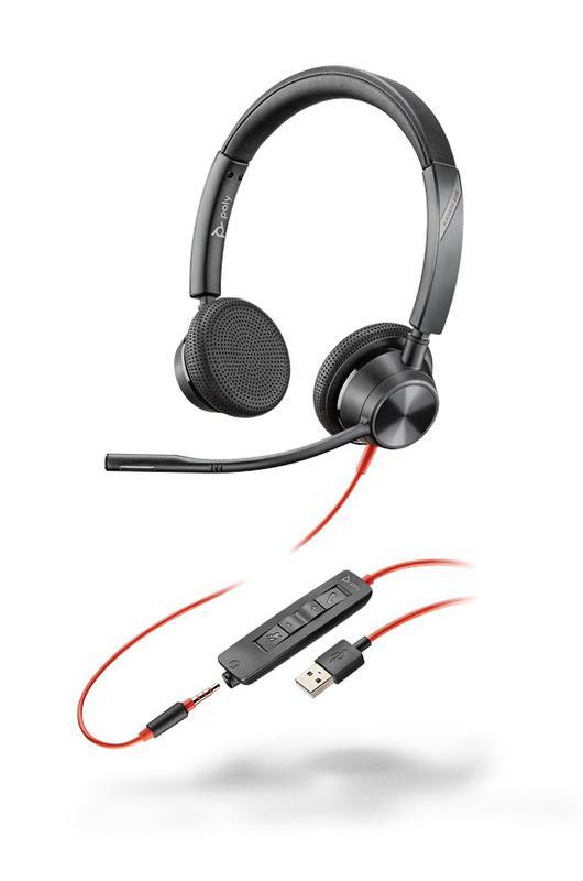 Headsets Blackwire 3325 USB A UC Binaural Headset