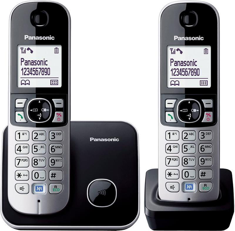 TG6812 DECT Phone Twin Pack Silver Black