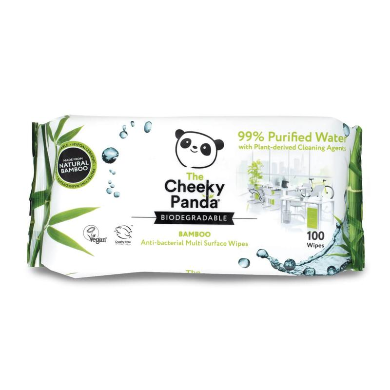 Cheeky Panda Ultra-Sustainable Biodegradable Multi-Purpose Cleaning Wipes 100 Wipes 0706117