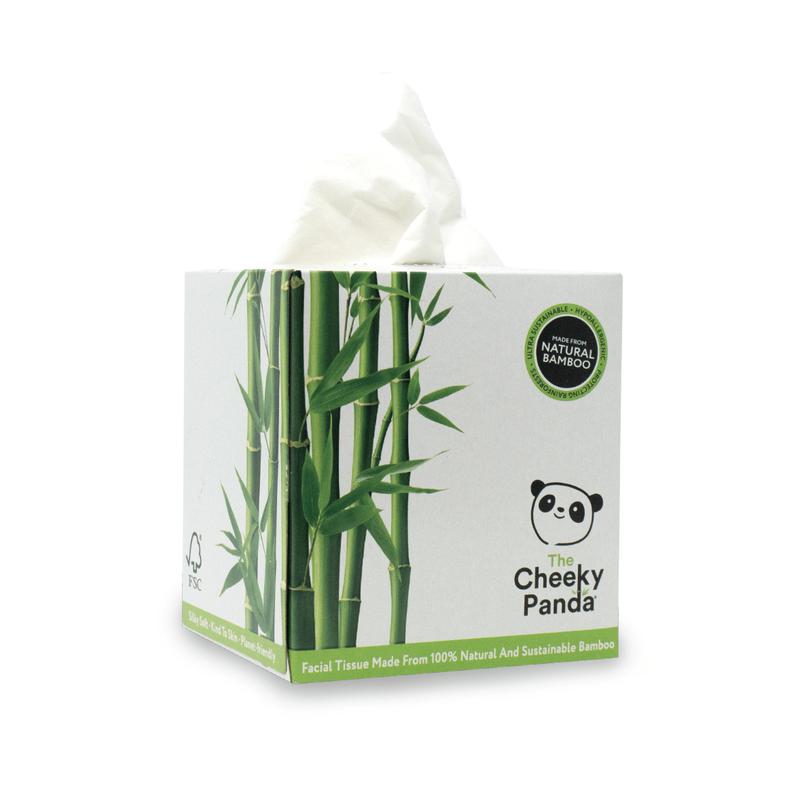 Facial Tissues Cheeky Panda Ultra-Sustainable Plastic Free Bamboo Facial Tissues Cube 56 Sheets 1103040