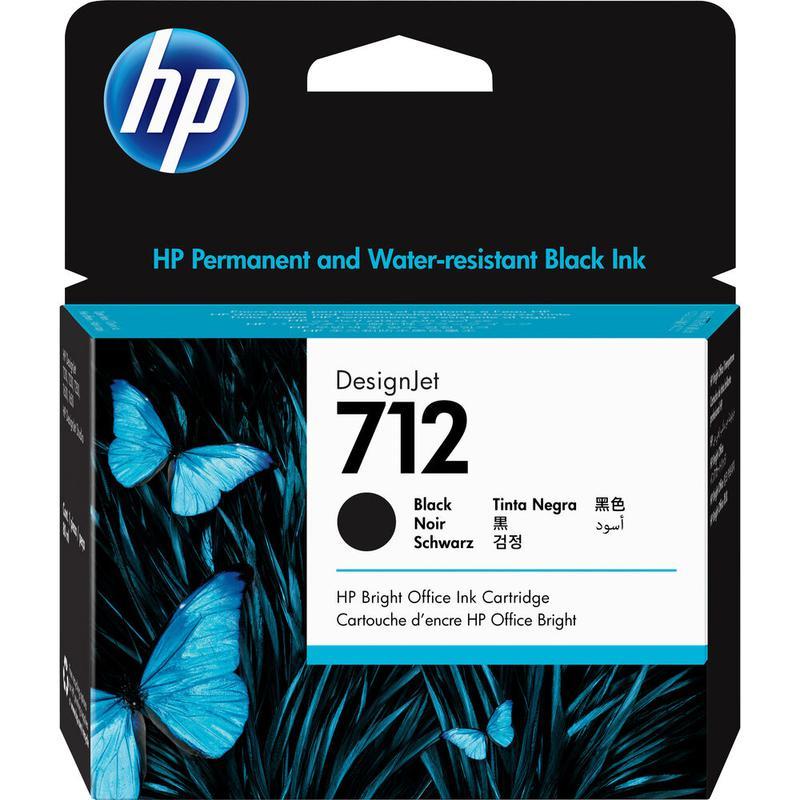 Printheads HP 3ED71A 712 BLACK INK CARTRIDGE 80ML