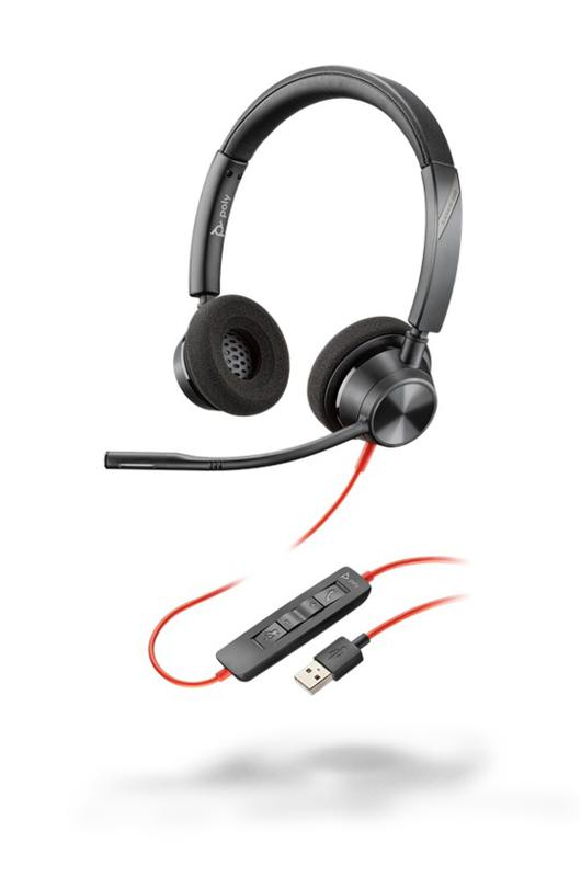 Headsets POLY Blackwire 3320 Headset USB A