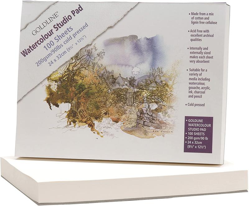 Clairefontaine Goldline Studio Pad 240x320mm 200gsm 100 Sheets White Paper (Pack 5) 421/1021Z