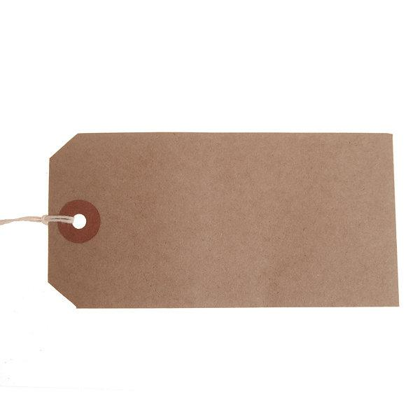 ValueX Reinforced Strung Tag 108x54mm Buff (Pack 1000) T257782