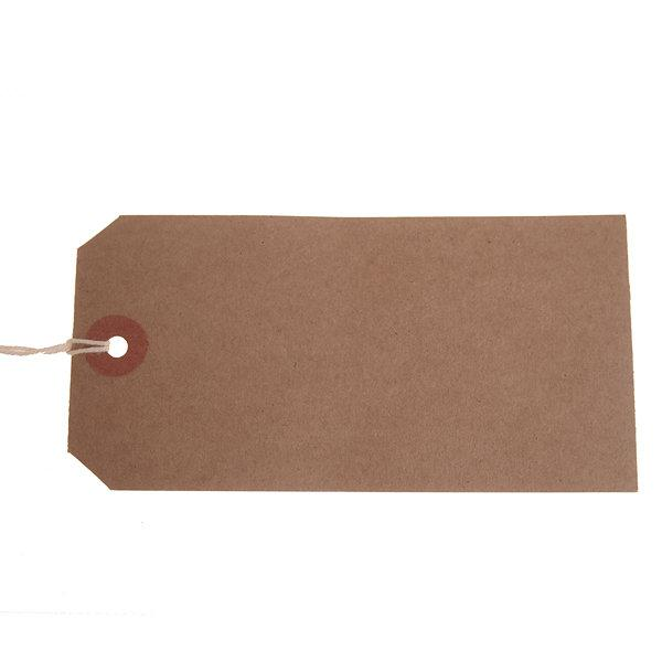 ValueX Reinforced Strung Tag 120x60mm Buff (Pack 1000) T257789