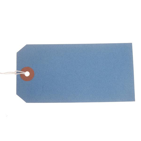 ValueX Reinforced Coloured Strung Tag 120x60mm Blue (Pack 1000) T257796