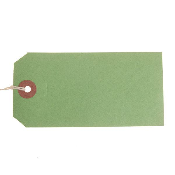 ValueX Reinforced Coloured Strung Tag 120x60mm Green (Pack 1000) T257803