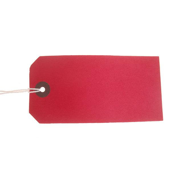 ValueX Reinforced Coloured Strung Tag 120x60mm Red (Pack 1000) T257810