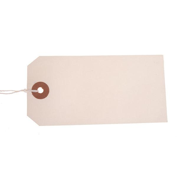 ValueX Reinforced Coloured Strung Tag 120x60mm White (Pack 1000) T257817