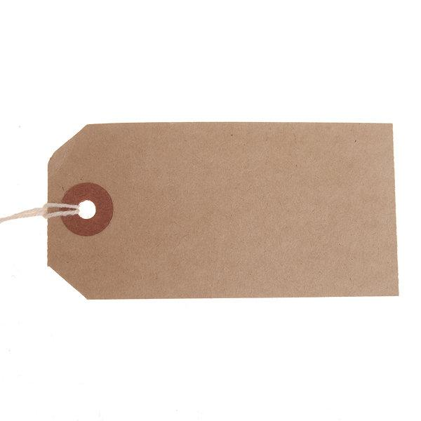ValueX Reinforced Strung Tag 83x41mm Buff (Pack 1000) T257768