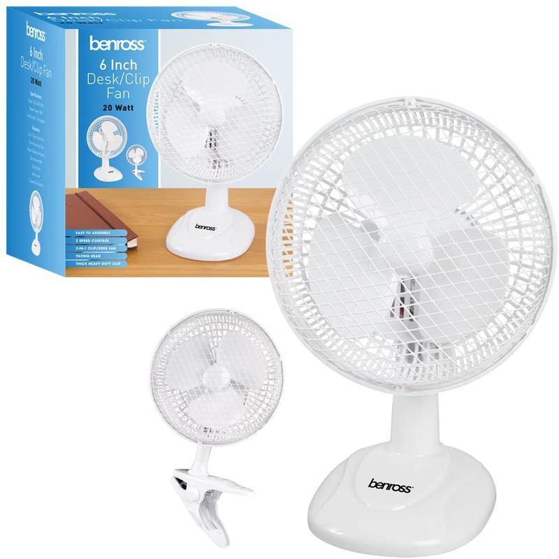 Desk Fans ValueX 6 Inch 2 Function Desk Top or Clip On Fan 41240