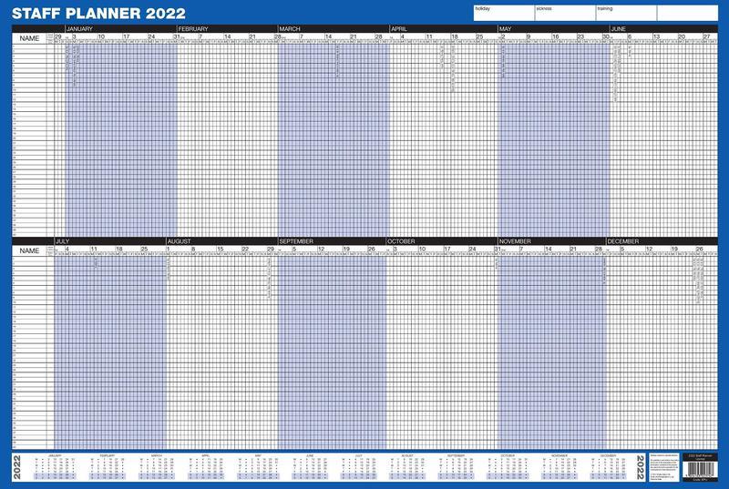 ValueX Staff Year Planner Unmounted 2022 SPU