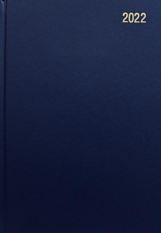 Diaries ValueX Diary A4 Week To View 2022 BL BUSA43 Blue