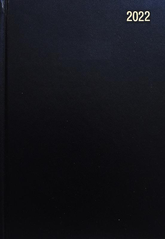 Diaries ValueX Diary A4 Week To View 2022 BK BUSA43 Black