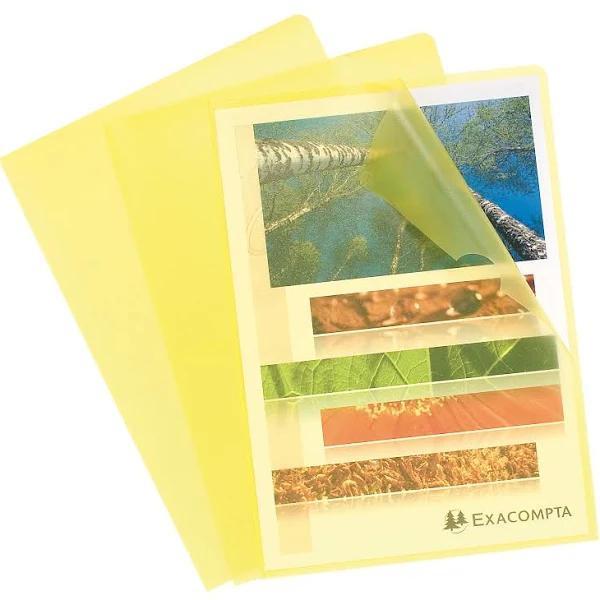 Folders / Binders / Cases ValueX Cut Flush Folder A4 Grain PP Yellow PK10 56116E