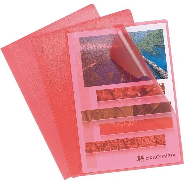 Folders / Binders / Cases ValueX Cut Flush Folder A4 Grain PP Red PK10 56115E