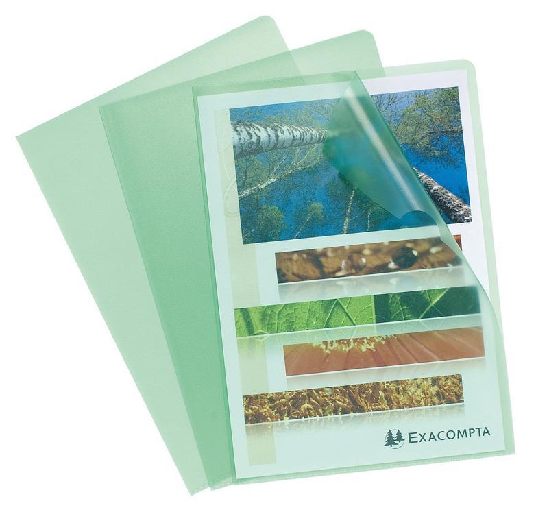 Folders / Binders / Cases ValueX Cut Flush Folder A4 Grain PP Green (Pack 10) 56113E