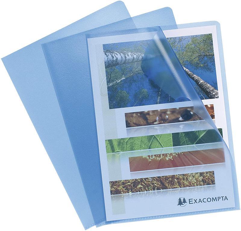 Folders / Binders / Cases ValueX Cut Flush Folder A4 Grain PP Blue (Pack 10) 56112E