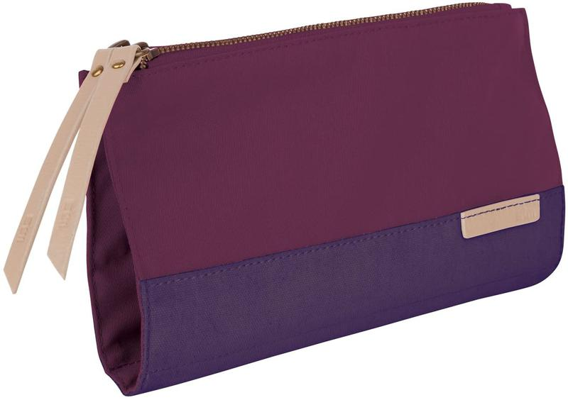 STM Grace Womens Accessory Clutch Bag for Computer Cables Hard Drives Pens Phones and More Lifetime Warranty Polyester Dark Purple