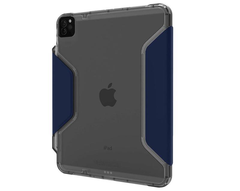 STM Dux Studio 12.9 Inch Apple iPad Pro 3rd 4th Generation Folio Tablet Case Night Blue Grey Polycarbonate TPU Magnetic Closure