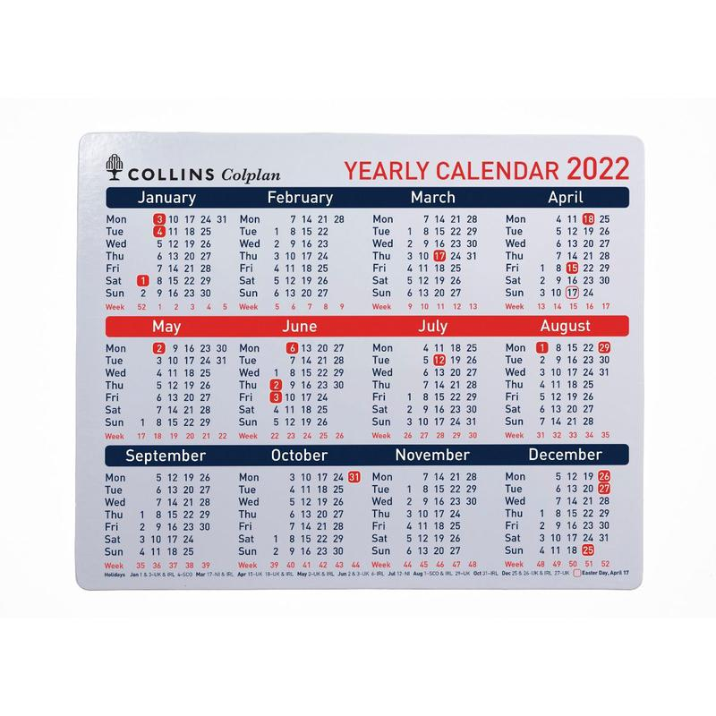 Colplan A4 2022 Yearly Planner CDS1-22