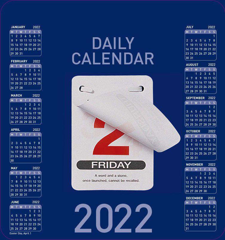 Calendars Colplan 2022 Daily Block Calendar CDBC-22