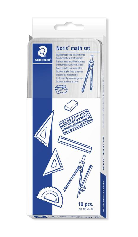 Geometry Equipment Staedtler Student Maths Set Supplied in a Metal Tin 557 10