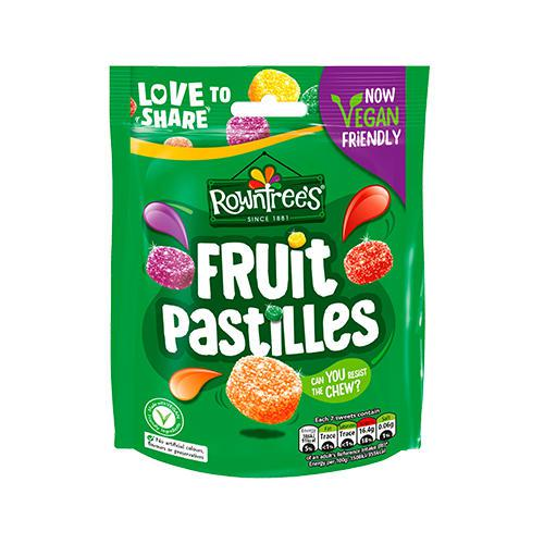 Rowntrees Fruit Pastilles Sweets Sharing Pouch 143g 12466090