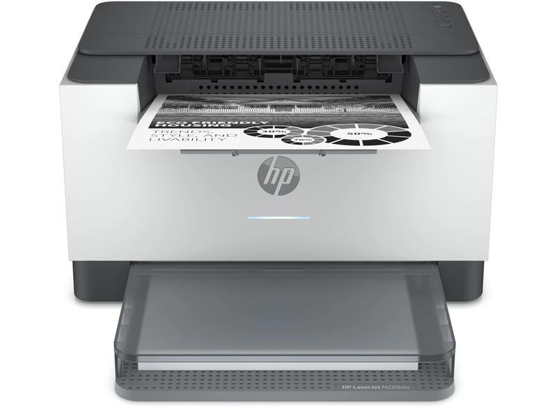 Laser Printers HP LaserJet M209dw Desktop Mono Wireless Laser Printer 600 x 600 DPI Print Resolution Automatic Duplex Print 150 Sheets Input
