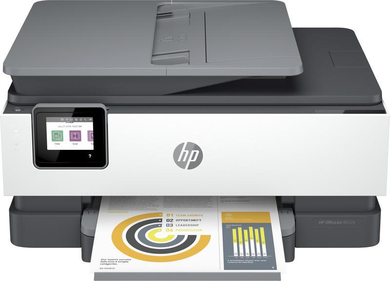 Multifunctional Machines HP Officejet Pro 8022e Wireless Inkjet Colour Multifunction Printer Print Scan Copy Fax