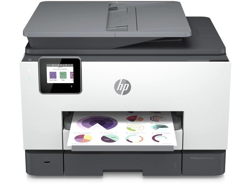 Multifunctional Machines HP Officejet Pro 9022e Wireless Inkjet Colour Multifunction Printer Print Scan Copy Fax