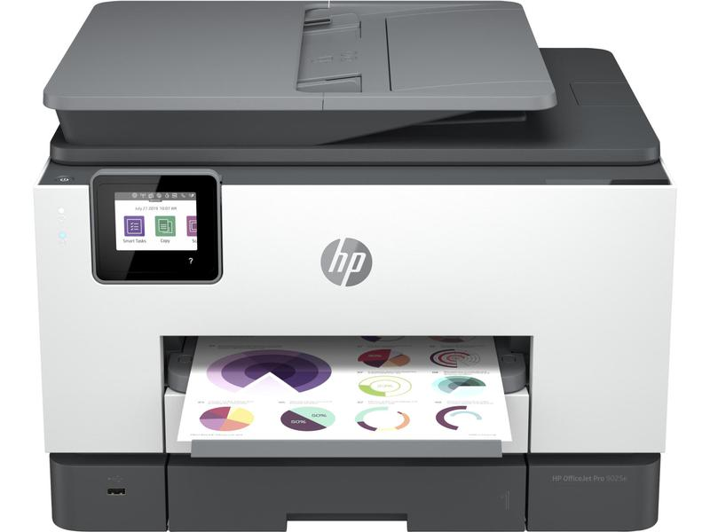 Multifunctional Machines HP Officejet Pro 9025e Wireless Inkjet Colour Multifunction Printer Print Scan Copy Fax