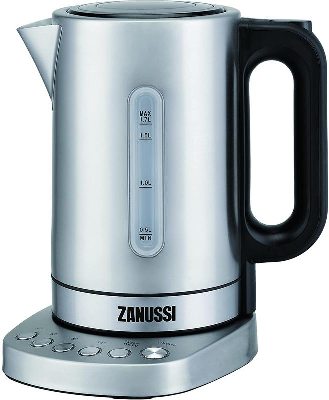 Kitchen Appliances Zanussi ZEK1290DSS Cordless Kettle Stainless Steel 1.7L