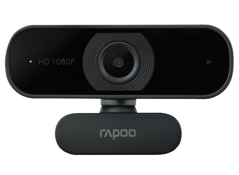 Webcams Rapoo XW180 1080p USB 2.0 Webcam 1920 x 1080 Pixels Resolution 80 Degree Wide Angle View Autofocus