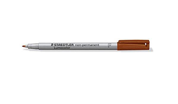 Non-Permanent Markers Staedtler Lumocolor OHP Pen Non-Permanent Fine 0.6mm Brown (Pack 10) 316-7