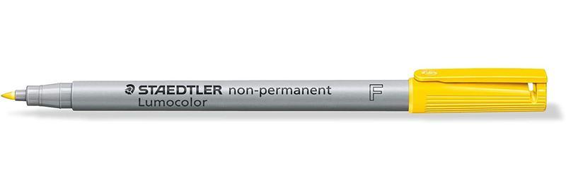 Non-Permanent Markers Staedtler Lumocolor OHP Pen Non-Permanent Fine 0.6mm Yellow (Pack 10) 316-1