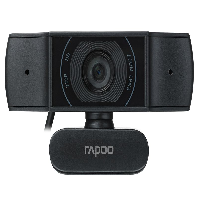 Webcams Rapoo XW170 720p USB 2.0 Webcam 1280 x 720 Pixels Resolution 80 Degree Wide Angle View Autofocus Noise Cancellation