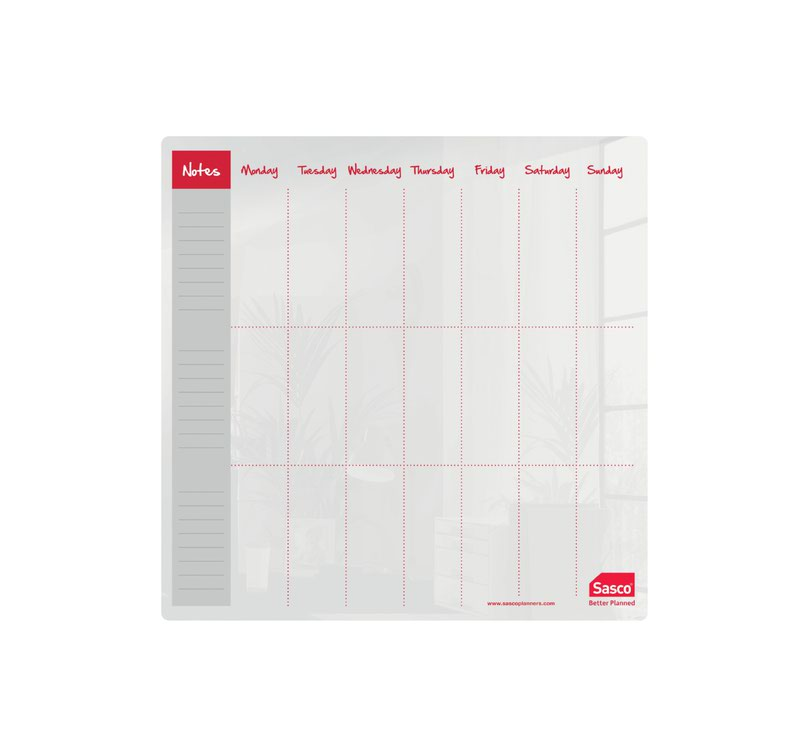 Sasco Week Planner Acrylic Desktop 300 x 300mm 2410178