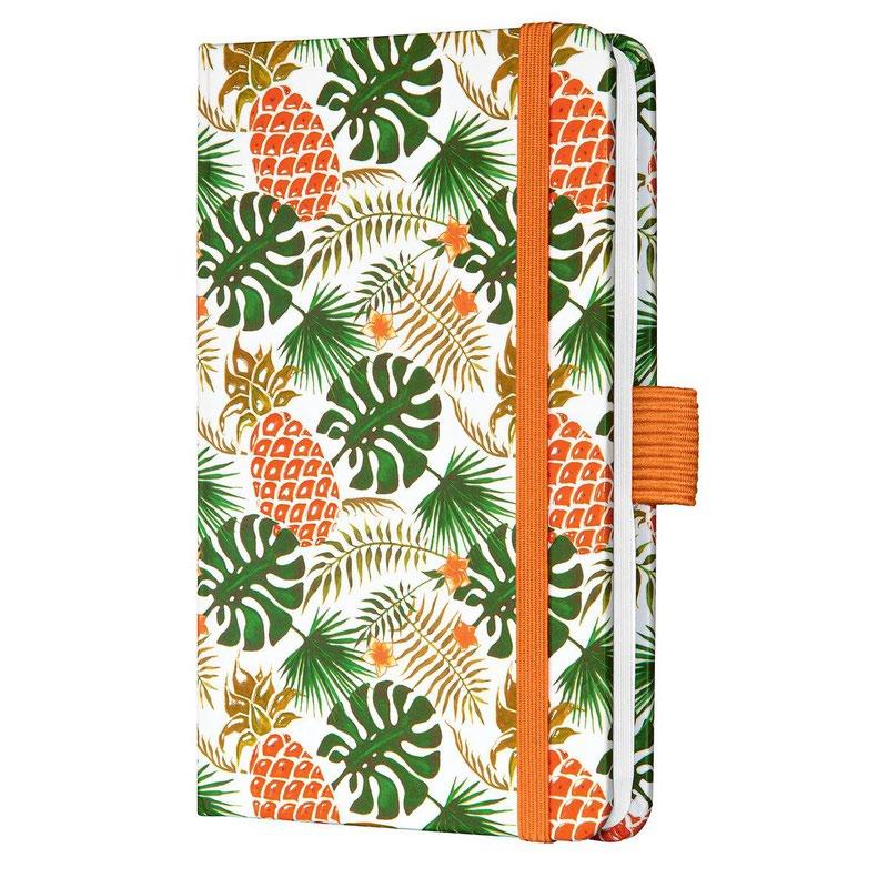 Diaries Sigel Jolie Week to View Diary 2022 Hardcover Tropic Green J2316