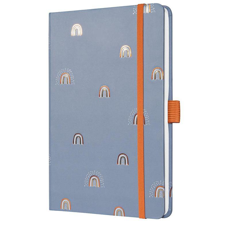 Diaries Sigel Jolie Week to View Diary 2022 Hardcover Rainbow Grey J2319