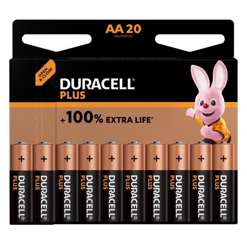 AA Duracell Plus Power AA Alkaline Battery (Pack 20) MN1500B20PLUS