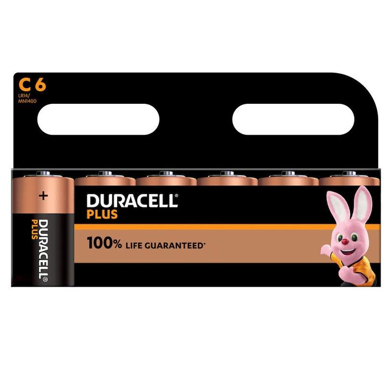 C Duracell Plus Power C Alkaline Battery (Pack 6) MN1400B6PLUS